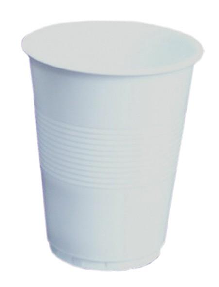 Plastmuggar 125ml vita 5000st