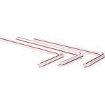 Sugrör röd/vita långa böjbart 250st
