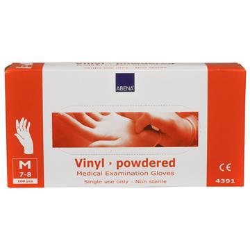 Vinylhandskar puder M 100st