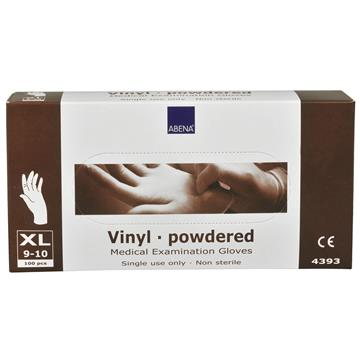 Vinylhandskar puder XL 100st